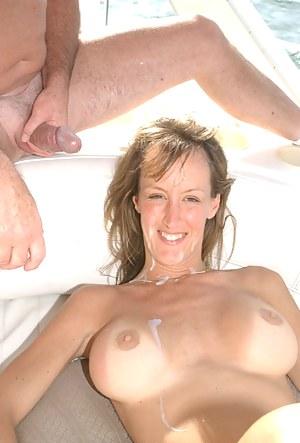 Cum on MILF Tits Porn Pictures